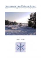 Impressionen einer Winterwanderung