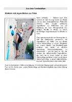 Klettern mit polnischen Jugendlichen