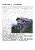 Klettern rund um den Aggenstein