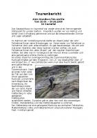 Tourenbericht ALPIN Kurs Eis und Fels