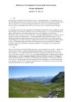 Tourenbericht Raetikonhoehenweg